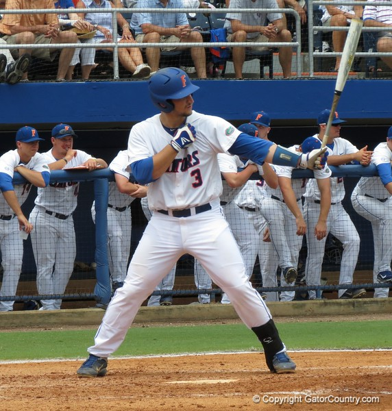 Florida junior Mike Zunino during the Gators' game against North Carolina State in Game 1 of the Gainesville Super Regional in McKethan Stadium on June 9, 2012.