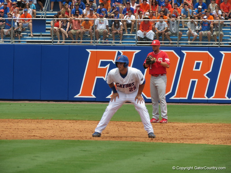 Florida's Preston Tucker during the Gators' game against North Carolina State in Game 1 of the Gainesville Super Regional in McKethan Stadium on June 9, 2012.
