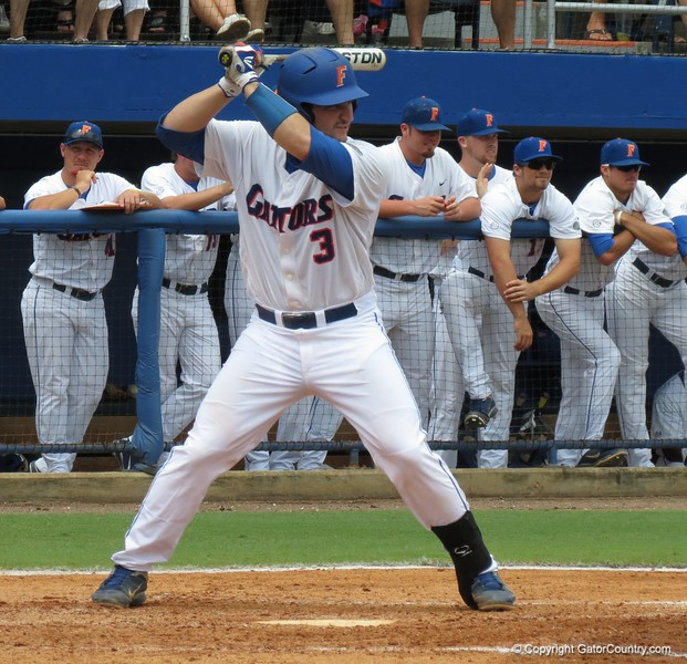 Florida slugger Mike Zunino during the Gators' game against North Carolina State in Game 1 of the Gainesville Super Regional in McKethan Stadium on June 9, 2012.
