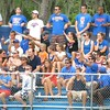 Fans do the Gator Chomp during the Florida Gators' game against North Carolina State in Game 1 of the Gainesville Super Regional in McKethan Stadium on June 9, 2012.