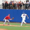 Florida's Vickash Ramjit is out at first during the Gators' game against North Carolina State in Game 1 of the Gainesville Super Regional in McKethan Stadium on June 9, 2012.