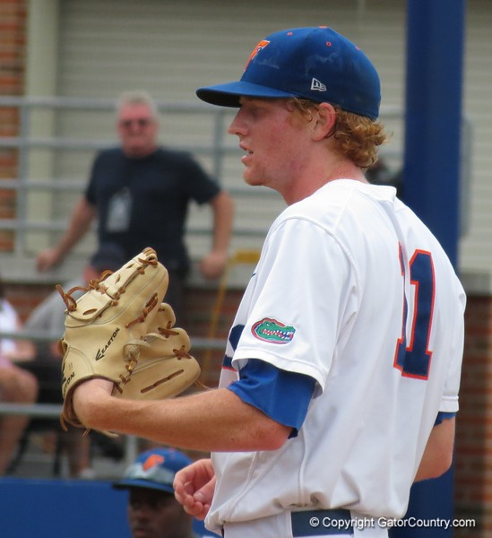 Florida's Hudson Randall in the Gators' game against North Carolina State in Game 1 of the Gainesville Super Regional in McKethan Stadium on June 9, 2012.
