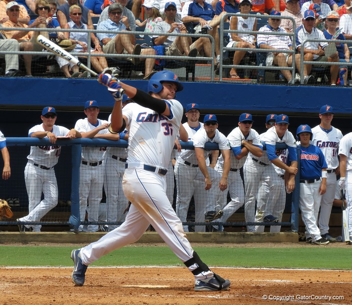 UF's Brian Johnson during the Gators' game against North Carolina State in Game 1 of the Gainesville Super Regional in McKethan Stadium on June 9, 2012.