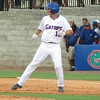 Florida's Justin Shafer after hitting a single during the Gators' game against North Carolina State in Game 1 of the Gainesville Super Regional in McKethan Stadium on June 9, 2012.