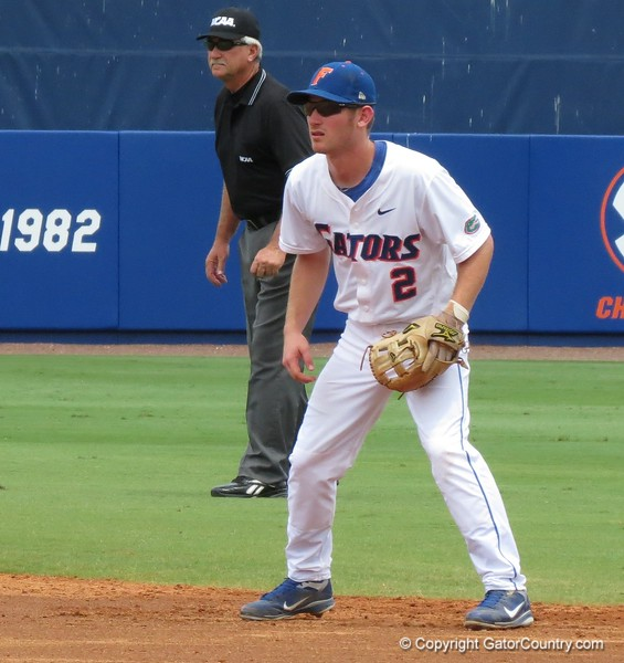 Florida second baseman Casey Turgeon in the Gators' game against North Carolina State in Game 1 of the Gainesville Super Regional in McKethan Stadium on June 9, 2012.