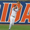 Florida left fielder Justin Shafer makes a catch during the Gators' game against North Carolina State in Game 1 of the Gainesville Super Regional in McKethan Stadium on June 9, 2012.