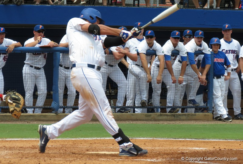Florida's Brian Johnson during the Gators' game against North Carolina State in Game 1 of the Gainesville Super Regional in McKethan Stadium on June 9, 2012.