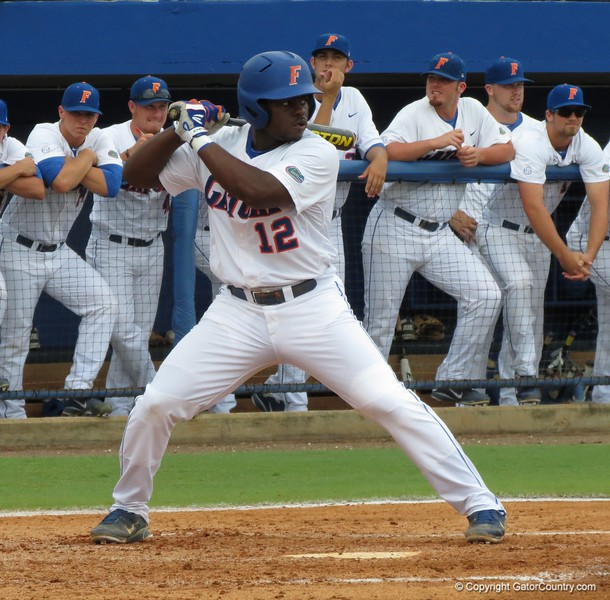 Florida's Josh Tobias during the Gators' game against North Carolina State in Game 1 of the Gainesville Super Regional in McKethan Stadium on June 9, 2012.
