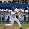 Florida's Daniel Pigott pops up during the Gators' game against North Carolina State in Game 1 of the Gainesville Super Regional in McKethan Stadium on June 9, 2012.