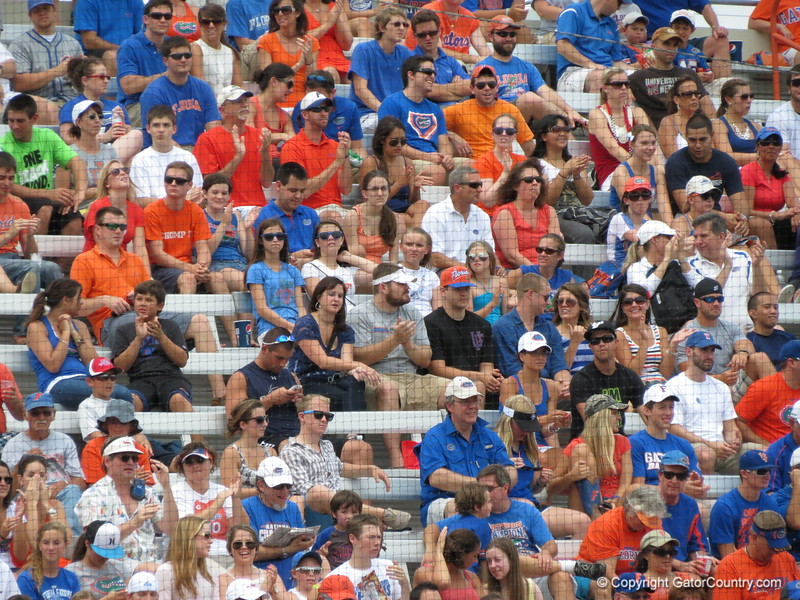 The crowd during the Gators' game against North Carolina State in Game 1 of the Gainesville Super Regional in McKethan Stadium on June 9, 2012.