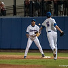 Florida sophomore pitcher Daniel Gibson tosses the ball to 1st base man  Vickash Ramjit during the Gators' 9-2 win against the FSU Seminoles on Tuesday, March 13, 2012 at the McKethan Stadium in Gainesville, Fla. / Gator Country photo by Saj Guevara
