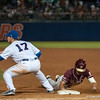 Florida freshman Taylor Gushue at 1st base during the Gators' 9-2 win against the FSU Seminoles on Tuesday, March 13, 2012 at the McKethan Stadium in Gainesville, Fla. / Gator Country photo by Saj Guevara