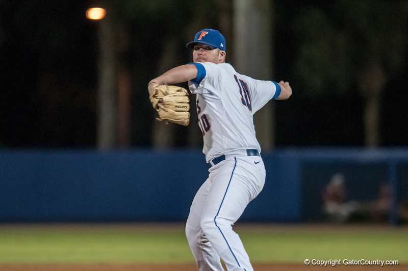 Florida junior pitcher Austin Maddox pitches during the Gators' 9-2 win against the FSU Seminoles on Tuesday, March 13, 2012 at the McKethan Stadium in Gainesville, Fla. / Gator Country photo by Saj Guevara