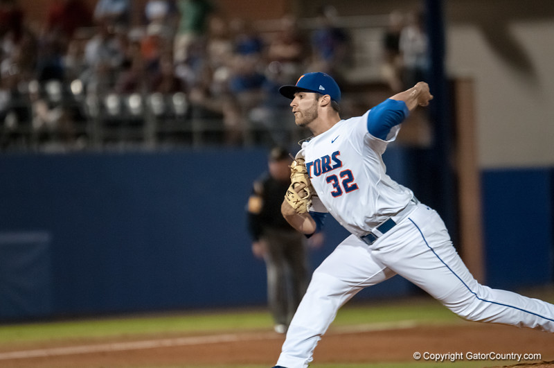 Florida junior pitcher Steven Rodriguez pitches during the Gators' 9-2 win against the FSU Seminoles on Tuesday, March 13, 2012 at the McKethan Stadium in Gainesville, Fla. / Gator Country photo by Saj Guevara