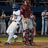 Florida freshman Josh Tobias touches home plate during the Gators' 9-2 win against the FSU Seminoles on Tuesday, March 13, 2012 at the McKethan Stadium in Gainesville, Fla. / Gator Country photo by Saj Guevara