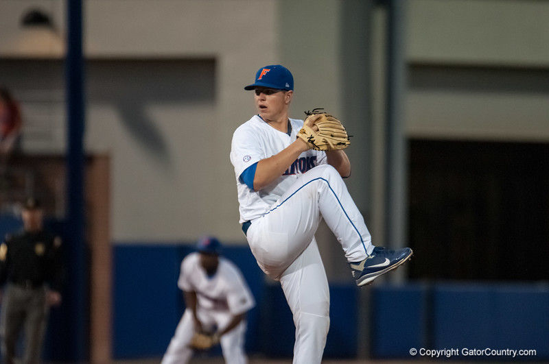 Florida freshman pitcher Bobby Poyner pitches during the Gators' 9-2 win against the FSU Seminoles on Tuesday, March 13, 2012 at the McKethan Stadium in Gainesville, Fla. / Gator Country photo by Saj Guevara