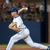 Florida senior pitcher Greg Larson pitches during the Gators' 9-2 win against the FSU Seminoles on Tuesday, March 13, 2012 at the McKethan Stadium in Gainesville, Fla. / Gator Country photo by Saj Guevara