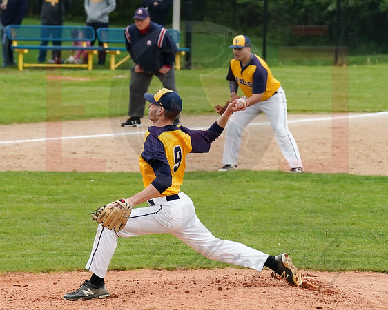 Olmsted Falls Teddy Grendzynski delivers a pitch against Amherst Tuesday May 21. photo Joe Colon