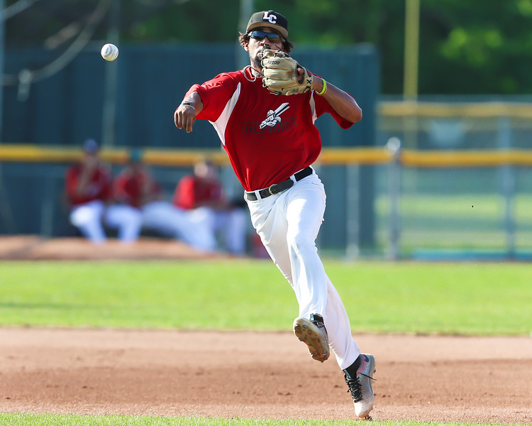 Ironmen Antonio Bennett makes a defensive play from his shortstop postion against the Mariners Thursday June 15. Photo Joe Colon