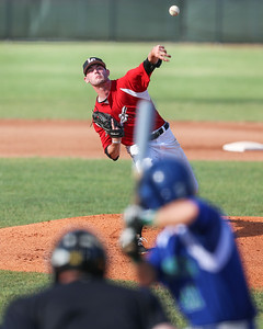 Lorain County Ironmen pitcher Noah Skladan delivers a pitch against Grand Lake Mariners Thursday June 15. photo Joe Colon