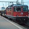 SBB Re 4/4 420128-1 (11128) on an W/B passenger service. Pratteln 10/10/16