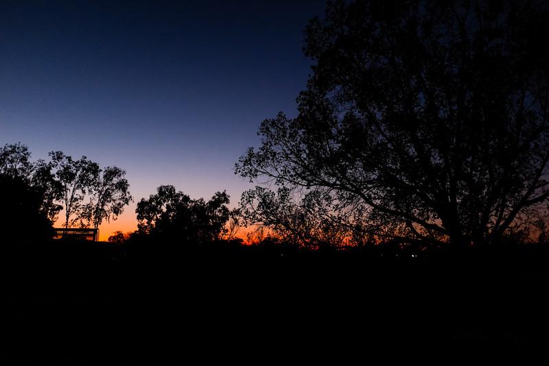 Sunset in Hughenden