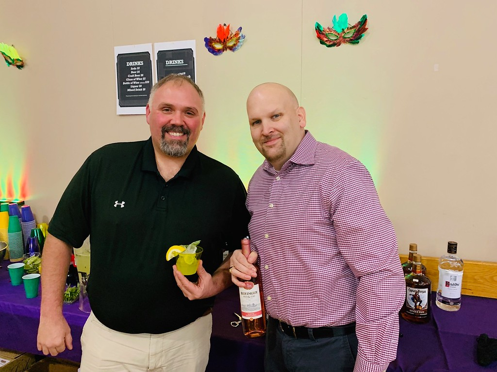 . Mixologists Dave Lemay of Lawrence and Steve Robinson of Lowell mix up the �Pinch of Basile,� a refreshing basil lemonade with vodka.