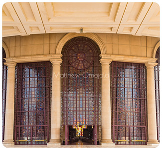 Close up Main front door to the Basilica of Our Lady of Peace Yamoussoukro Ivory Coast, Côte d'Ivoire.