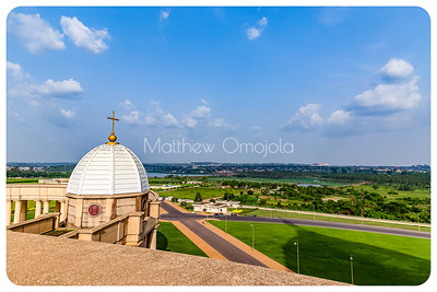 Gardens around the Basilica of Our Lady of Peace Yamoussoukro Ivory Coast, Cote d'Ivoire.