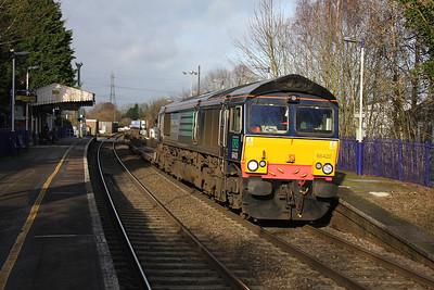 66420 Bramley 12/01/12 4O54 Leeds to Southampton Maritime