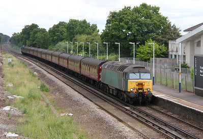 57315 Hook 03/07/13 5Z80 Southall to Poole with 34067 Tangmere on the rear