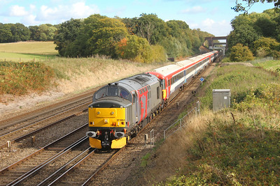 37884 Potbridge 18/10/16 5O86 Ely Papworth Siding to Eastleigh with 2418 and 2420