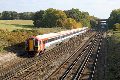2403 Potbridge 28/10/16 5L46 Eastleigh to Ely Papworth Sidings