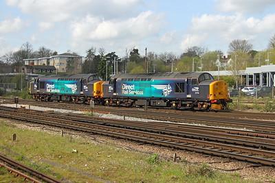 37716 Basingstoke 03/04/17 0Z80 Eastleigh to Crewe Gresty Bridge with 37069