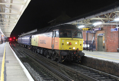 47727 Basingstoke 18/10/13 4Z47 Eastleigh RC to Doncaster with barriers for a 458/5 move to Wimbledon