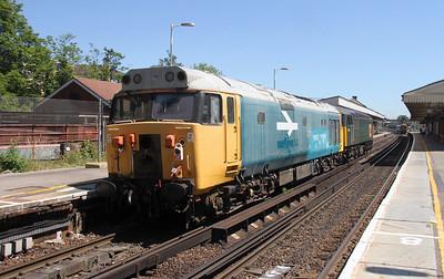 50031 Basingstoke 30/06/15 on the rear of 0Z53 Eastleigh to Derby