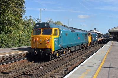 50007 Basingstoke 24/09/18 0Z50 Eastleigh to Tyseley with 50049