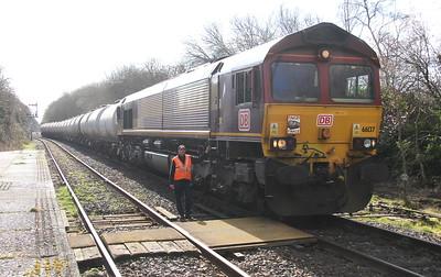 66137 Marchwood 24/03/15 6B62 Fawley to Eastleigh (Final TTA working off Fawley ?)