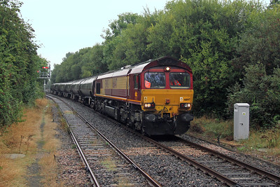 66147 Marchwood 05/09/16 6Y32 Fawley to Holybourne taking the empty tanks for storage