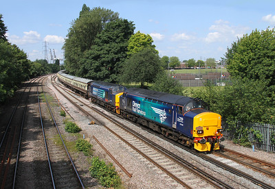 37423 Millbrook 13/06/14 1Z37 Stafford to Swanage with 37402 (37604 on rear)