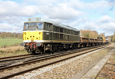 31190 Micheldever 07/03/14 on the rear of 6Z56 Totton to Chaddesden