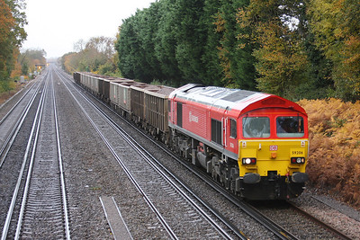 59206 Old Basing 05/11/10 7O12 05.52 Merehead Quarry to Woking Down Reception sidings