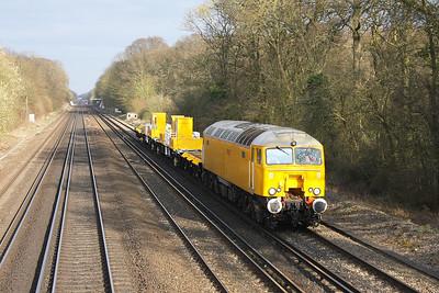 57306 Old Basing 20/03/12 6Y19 Tonbridge to Eastleigh