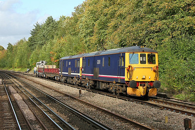 73213 Shawford 11/09/11 7G16 Queenstown Road to Eastleigh with 73212