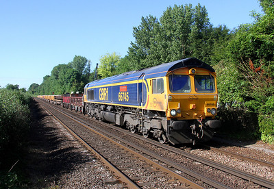 66745 Shawford 08/06/14 6G15 Eastleigh to Sholing. Check Out Mark Bugler's photo for a different perspective on this shot.  http://www.shawfordjunction.com/RailwayImages-1/Most-Recent/18623490_XFDZXF#!i=3300854568&k=rKJvzH3&lb=1&s=A