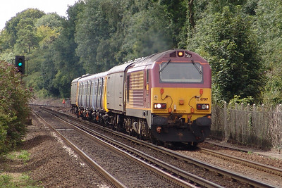 67017 Shawford 29/07/05 with the last 5X47 Eastleigh RC to Birkenhead with 507033