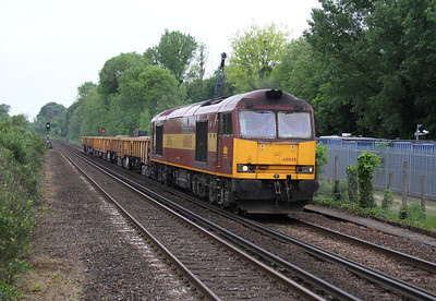 60045 Shawford 21/05/14 6N70 Eastleigh to Winchester via a run round at Woking