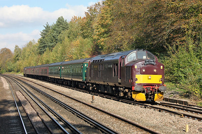 37685 Shawford 22/10/11 1Z37 Winchester to Portsmouth Harbour 'Routes and Branches 3' with 37706 on the rear
