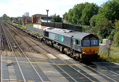 66419 Mount Pleasant Crossing 08/09/12 4B08 Southampton Maritime to Southampton Up Goods Yard (Northam)