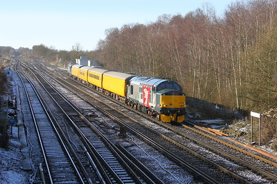 37608 Worting Junction 3Z01 Eastleigh to Derby RTC with 37604 on the rear